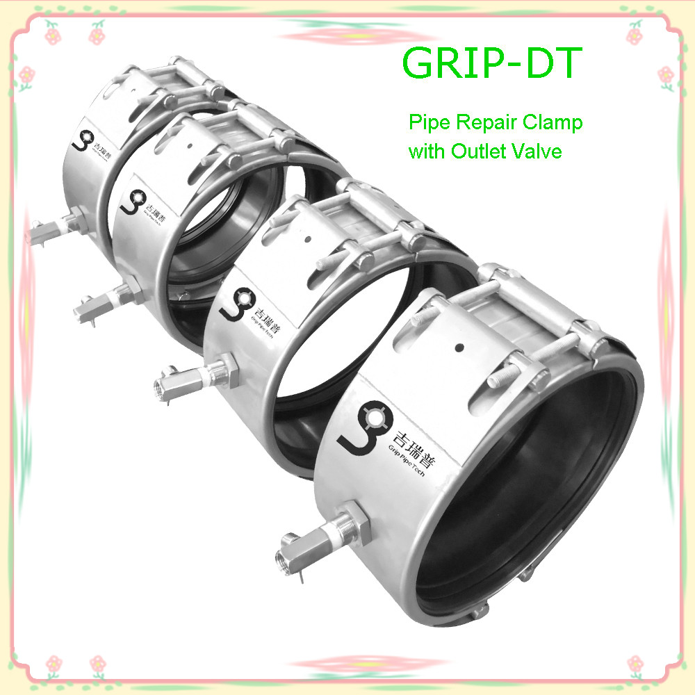 GRIP-DT Repair clamp with outlet valve